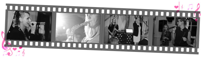 About page film strip of Sister Sax