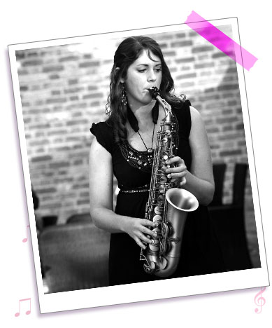 Leanna the new Saxophonist from Sister Sax
