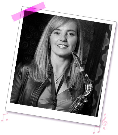 Sue Saxophonist from Sister Sax, available as part of a duo or trio