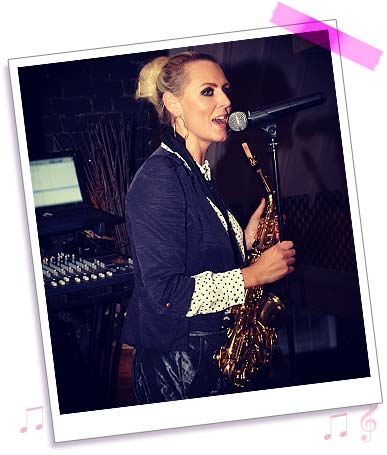 Sister Sax - Kay singing and playing Saxophone