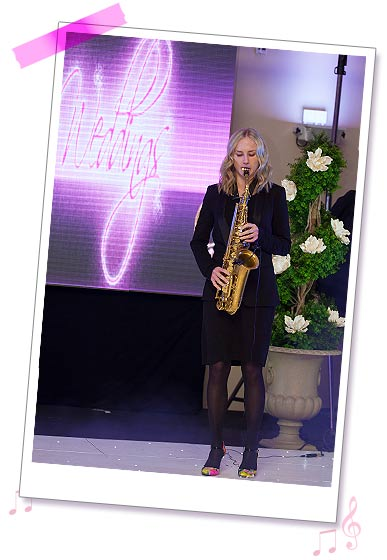 Sister Sax photo 12 - Holly at a wedding fayre