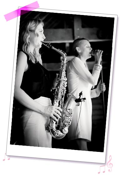 Sister Sax photo 10 - Kay & Holly performing at a wedding
