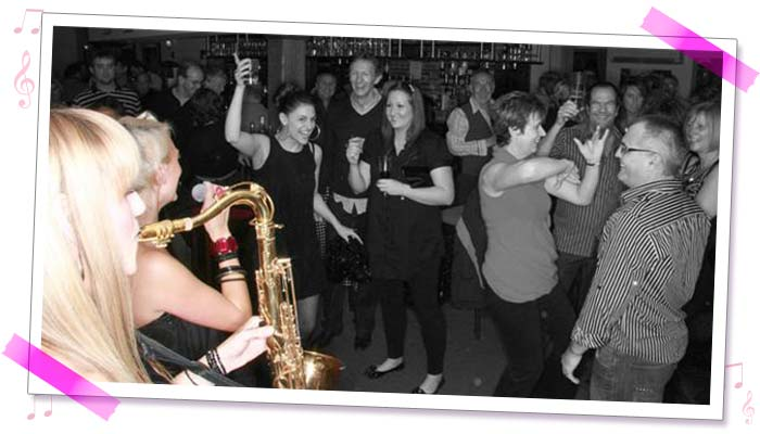 Sister Sax party photo 2