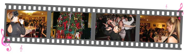 Christmas page film strip of Sister Sax