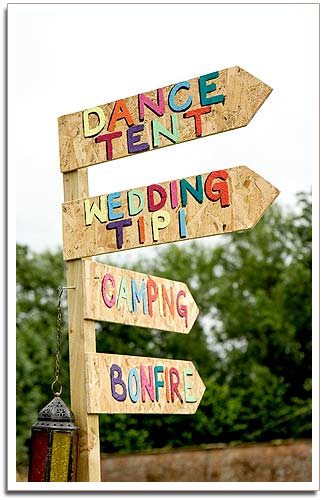 Festival weddings signpost